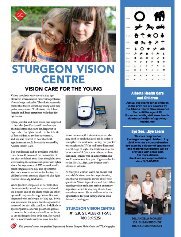 Vision care for the young advertisement