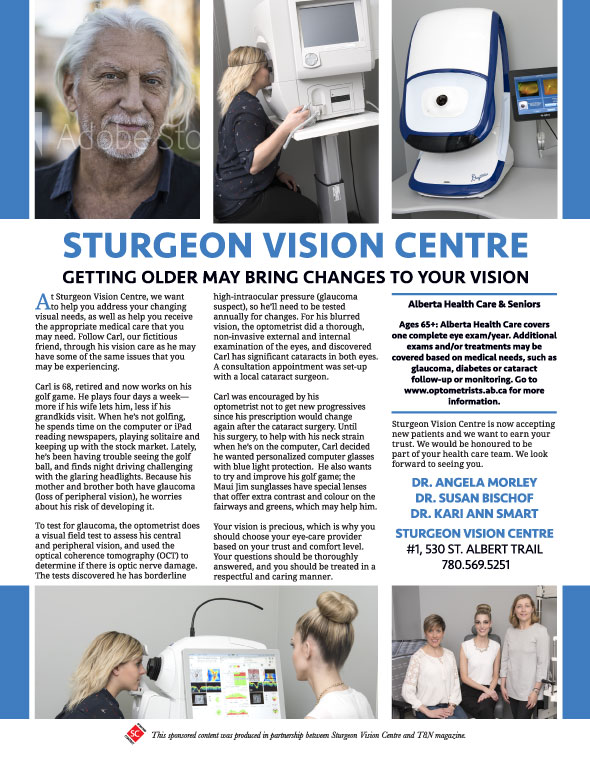 Sturgeon Vision Centre Getting older may bring changes to your vision